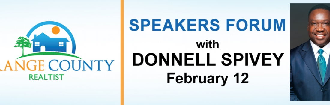 Speakers Forum with Donnell Spivey Feb 12