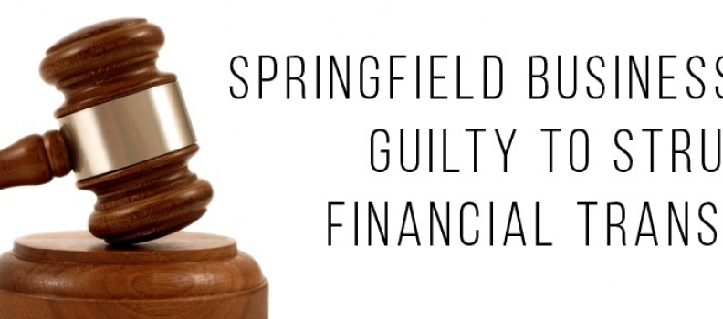 Springfield Business Owner Pleads Guilty to Structuring Financial Transactions