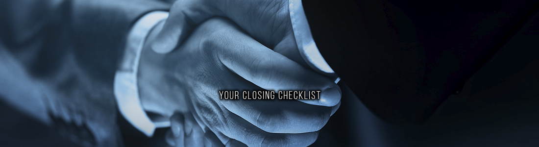 Your Closing Checklist