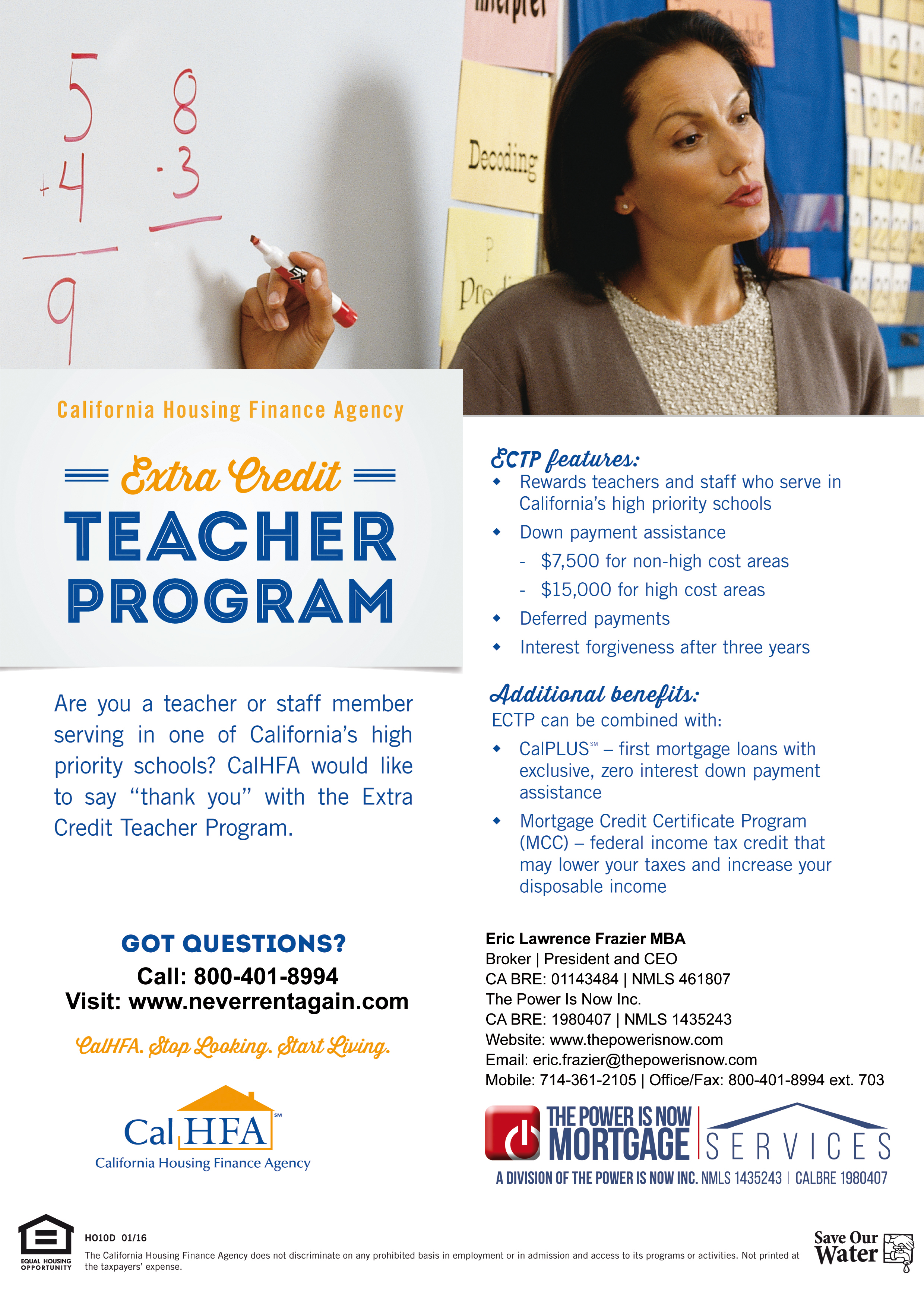 Extra Credit – Teacher Program