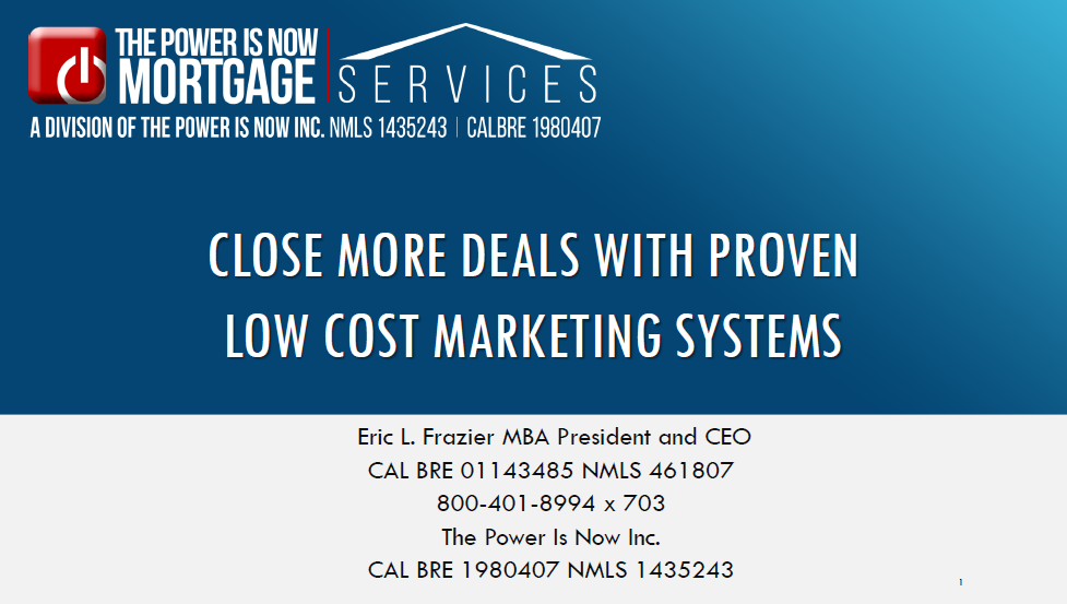 LOW COST MARKETING SYSTEMS