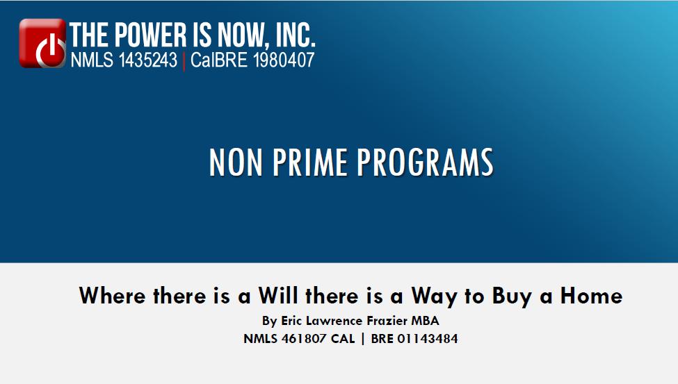 Non Prime </br> Programs