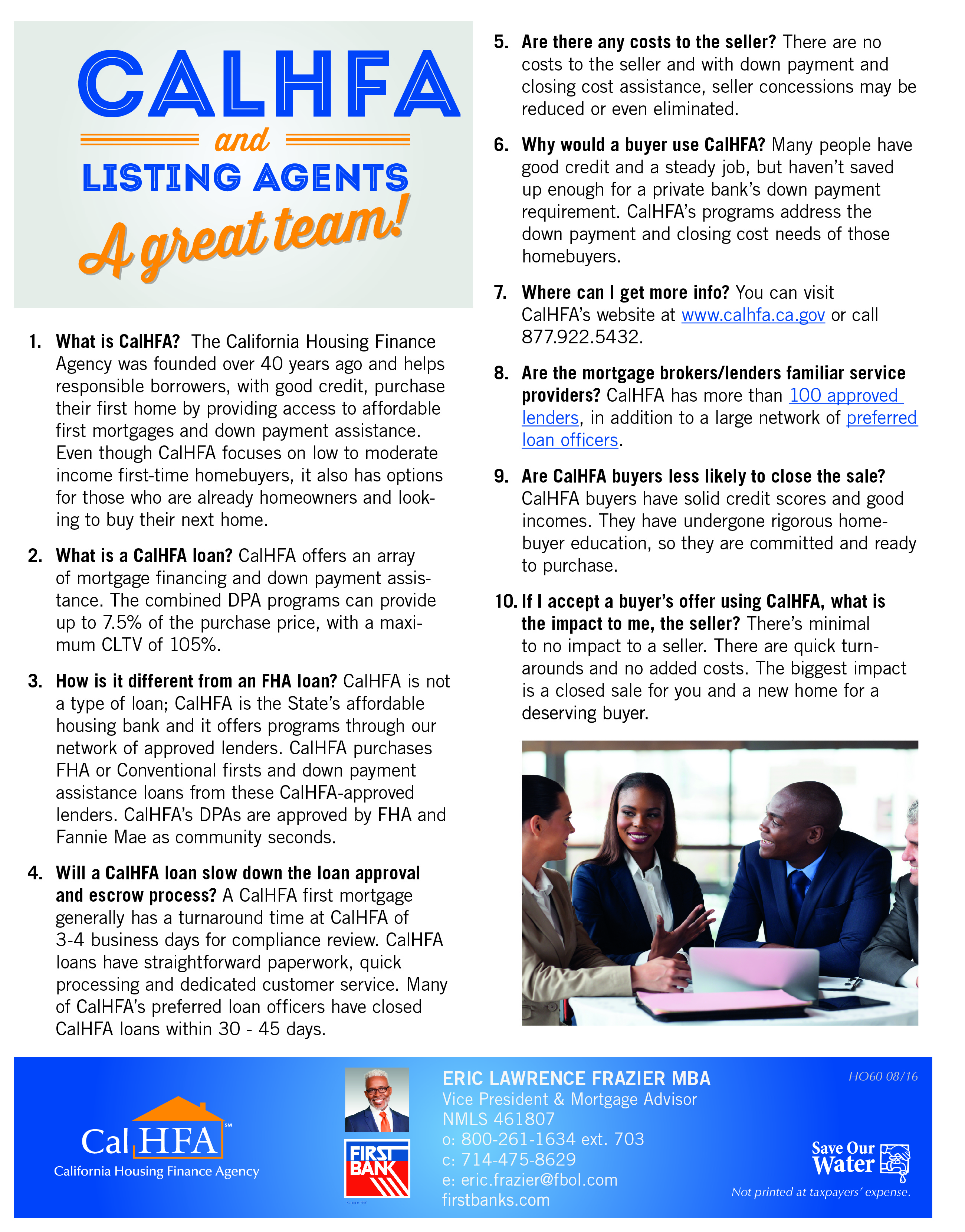 CALHFA and Listing agents