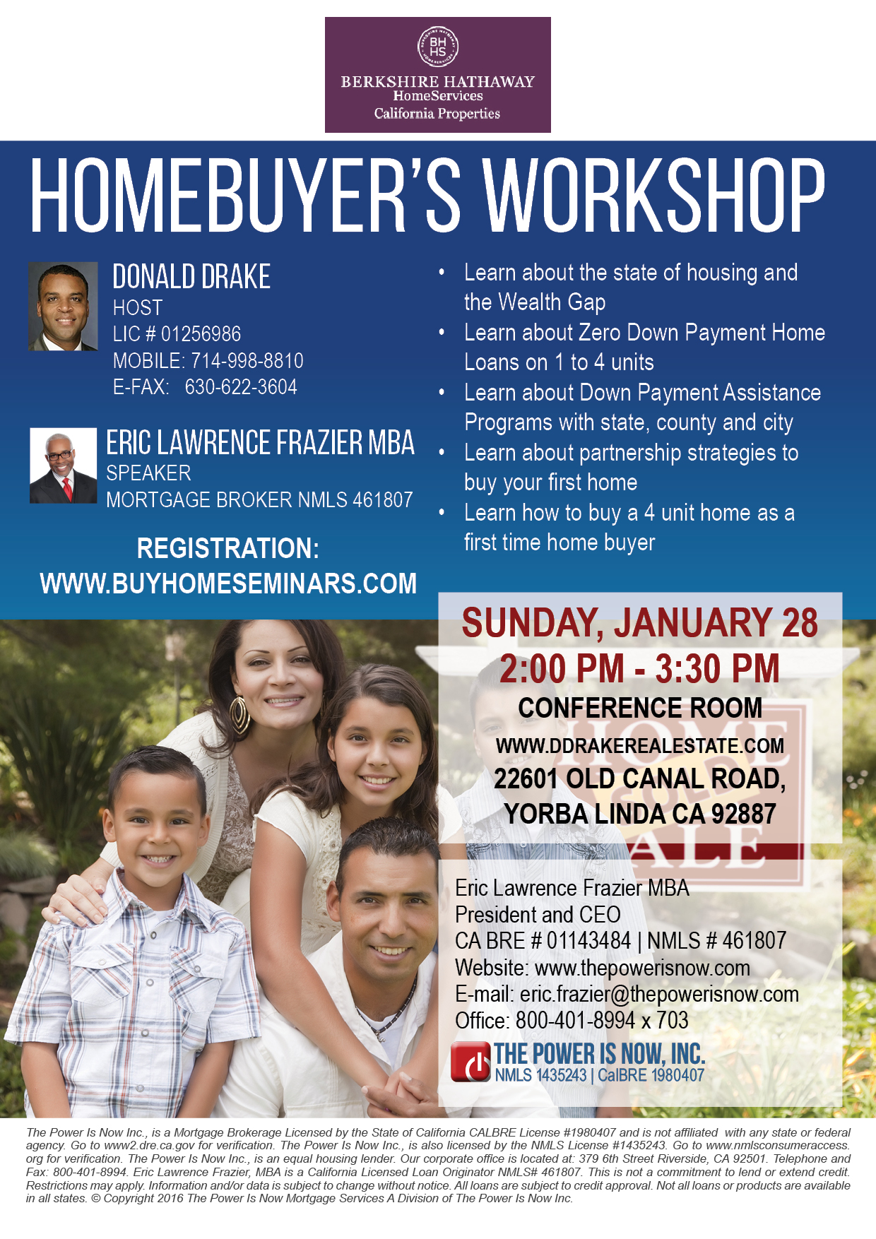Homebuyer's workshop YL