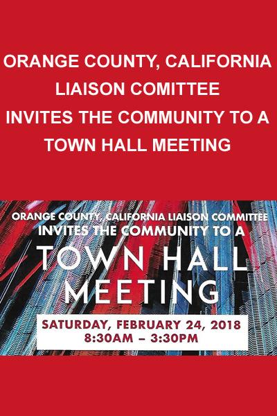 Orange County Town Hall Meeting