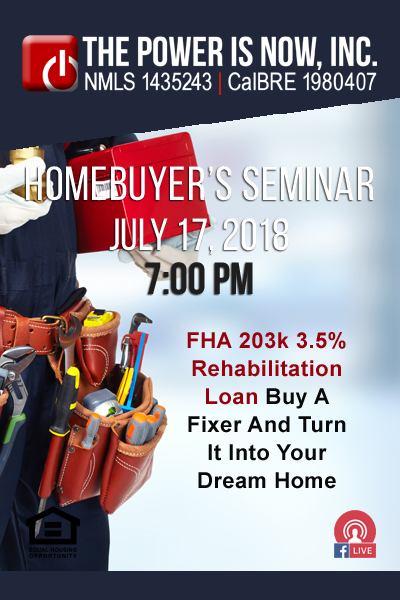 FHA 203k 3.5% Rehabilitation Loan