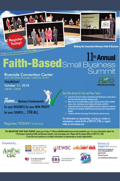 11th Annual Faith-Based Small Business Summit