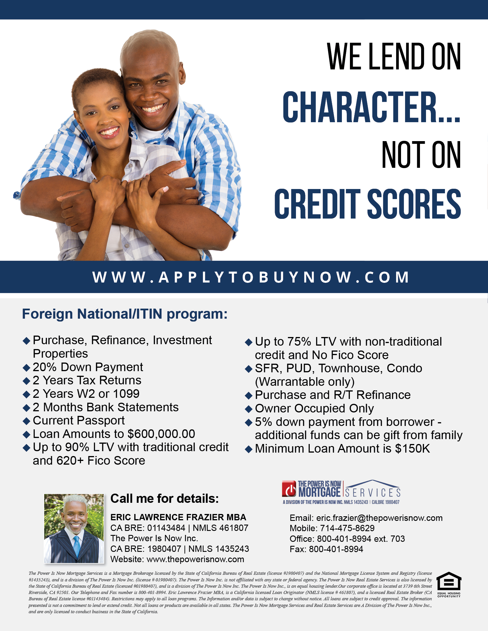 Foreign National/ITIN program
