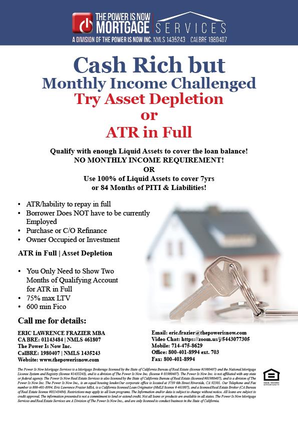 Asset Depletion or ATR in Full