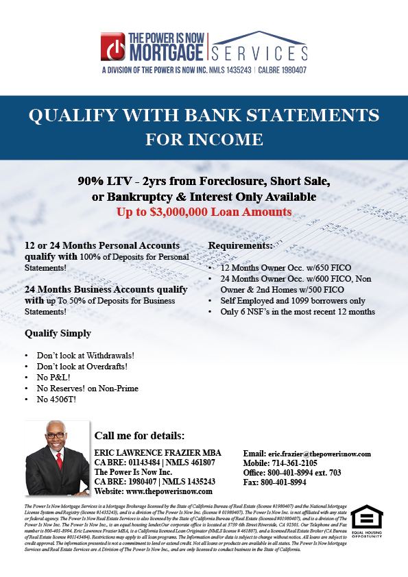 Qualify with Bank Statements