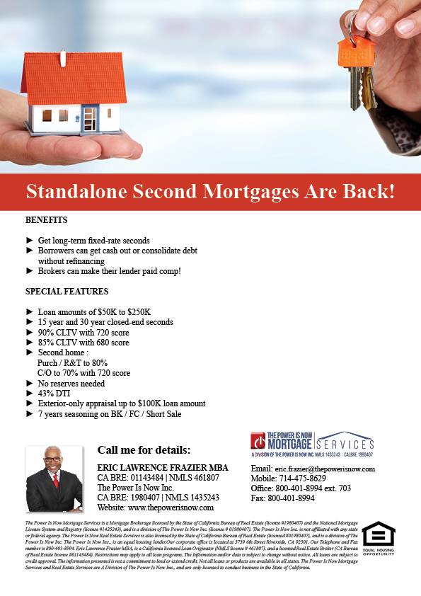 Standalone Second Mortgages