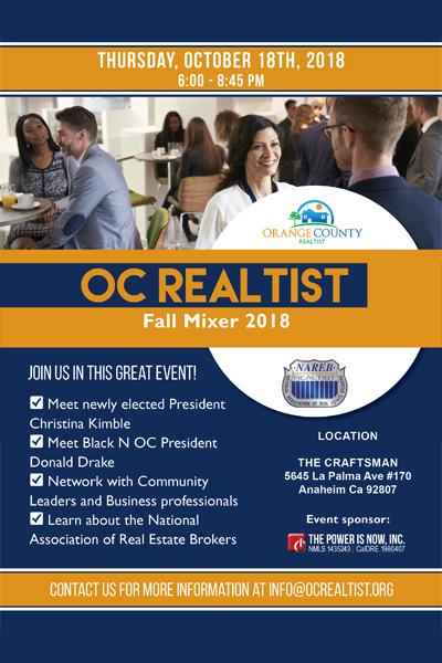 OC Realtist Fall Mixer 2018