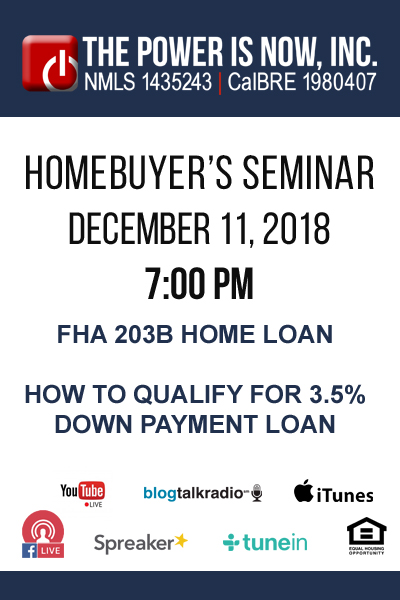 FHA 203B Home Loan | How to Qualify for 3.5% Down Payment loan