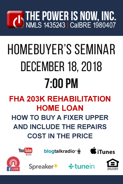 FHA 203k Rehabilitation Home Loan | How to Buy a fixer Upper and Include the Repairs Cost in the Price