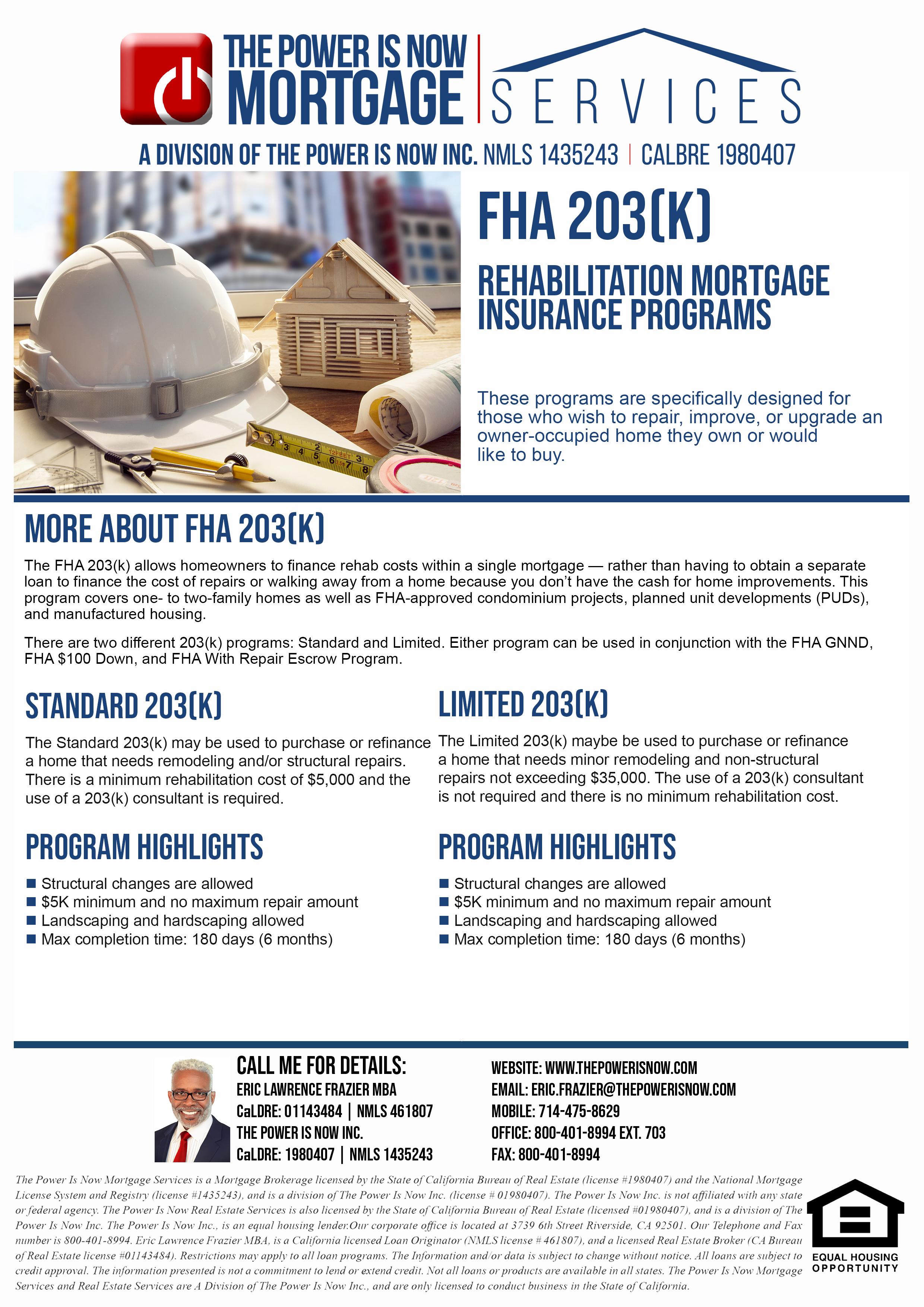 FHA 203k Program