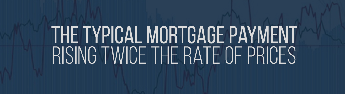 The typical Mortgage Payment rising Twice the Rate of Prices