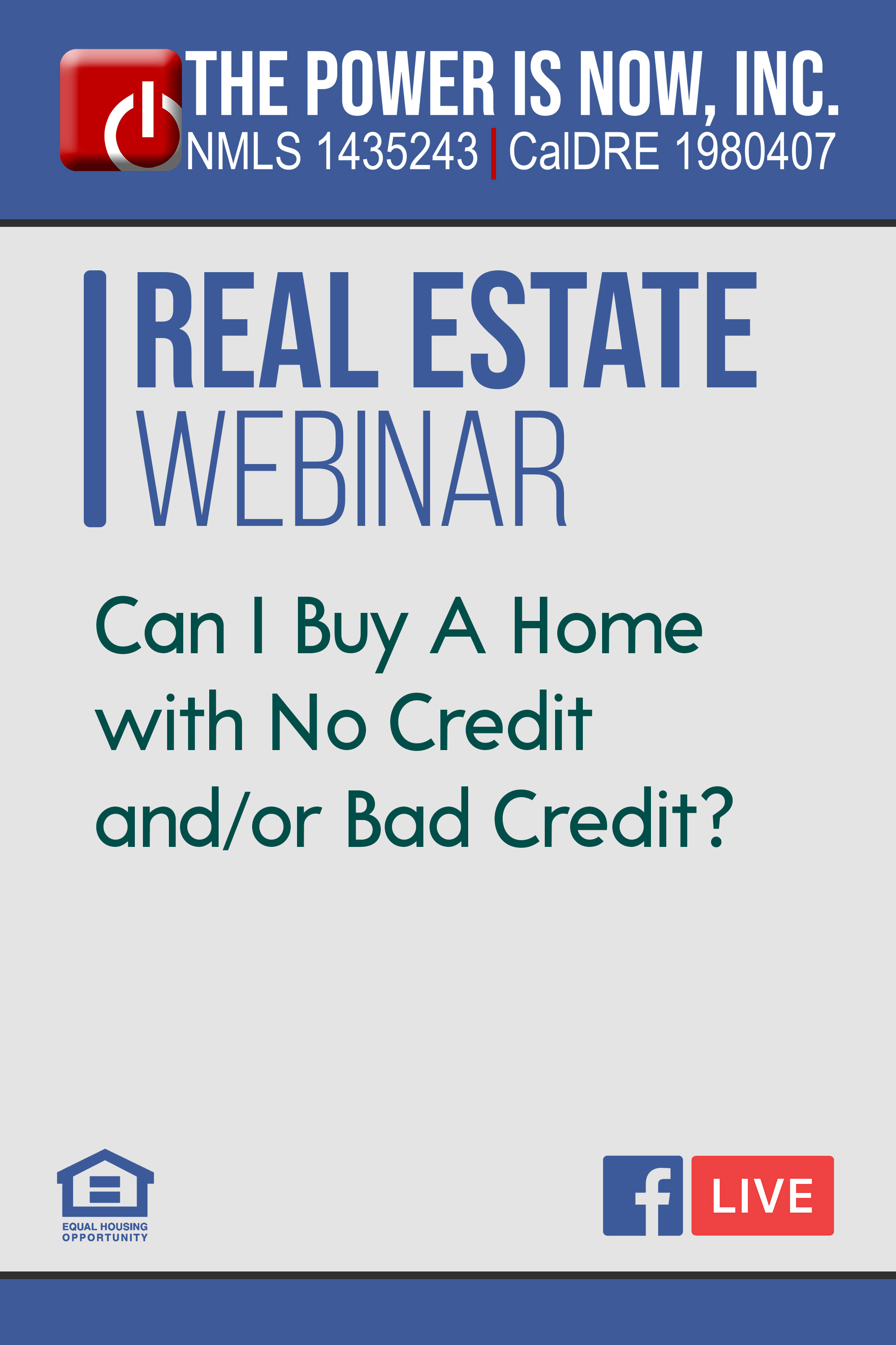 Can I Buy A Home with No Credit and/or Bad Credit?