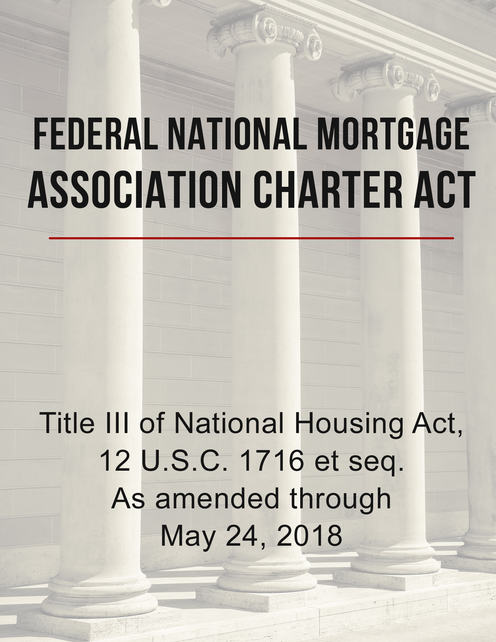 Federal National Mortgage Association Charter Act
