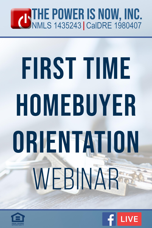 First Time Homebuyer Orientation Webinar