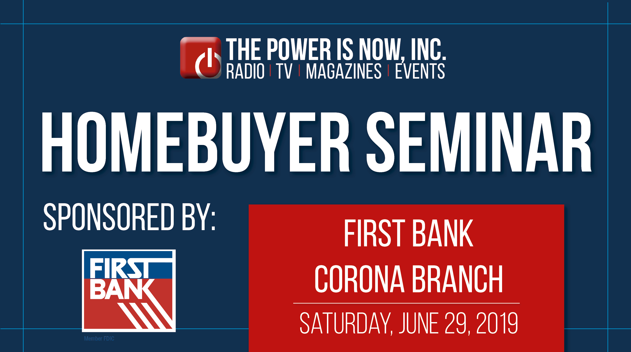 First Time Homebuyer Seminar, First Bank Corona Branch