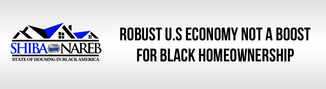 Robust U.S Economy Not a Boost for Black Homeownership