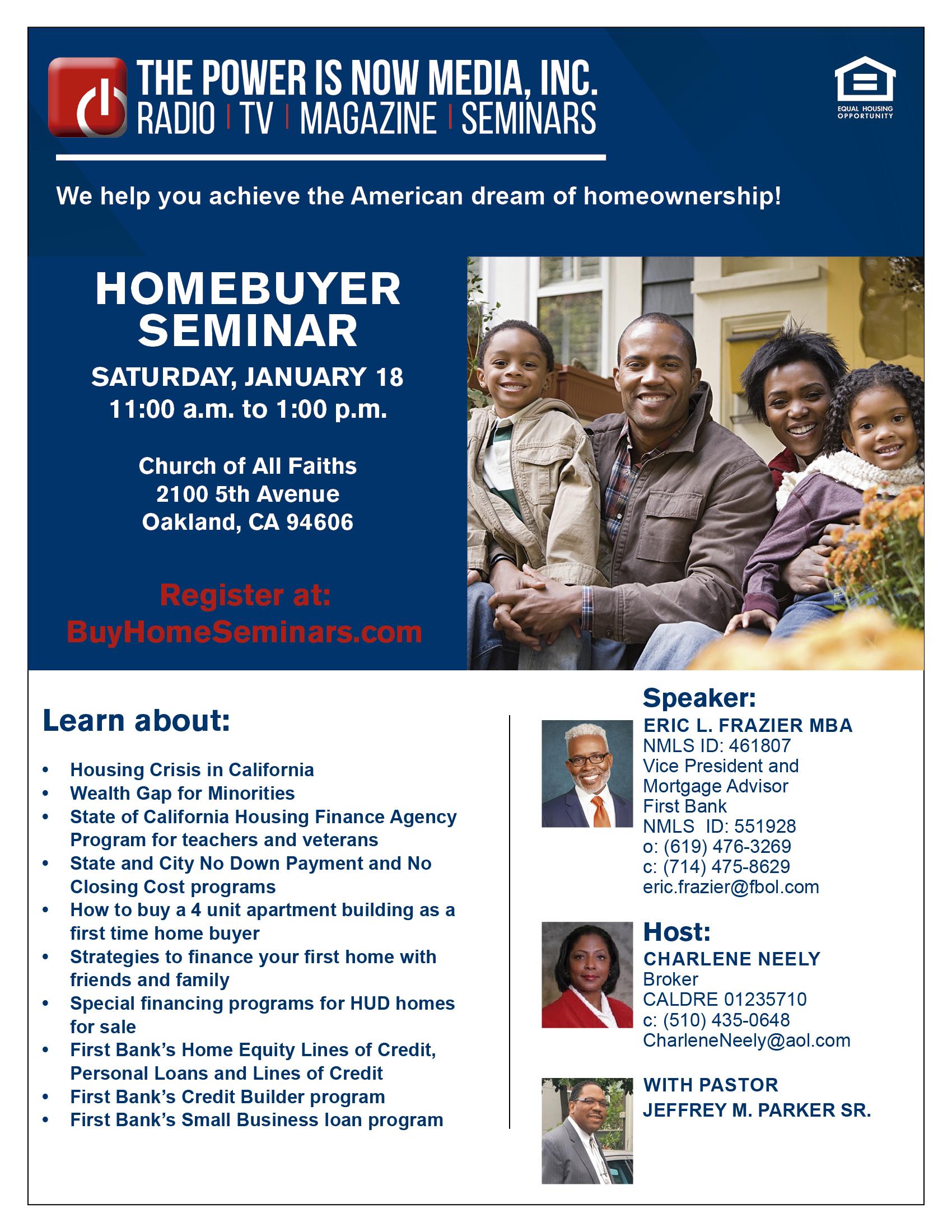 Homebuyer Seminar – Church of All Faiths