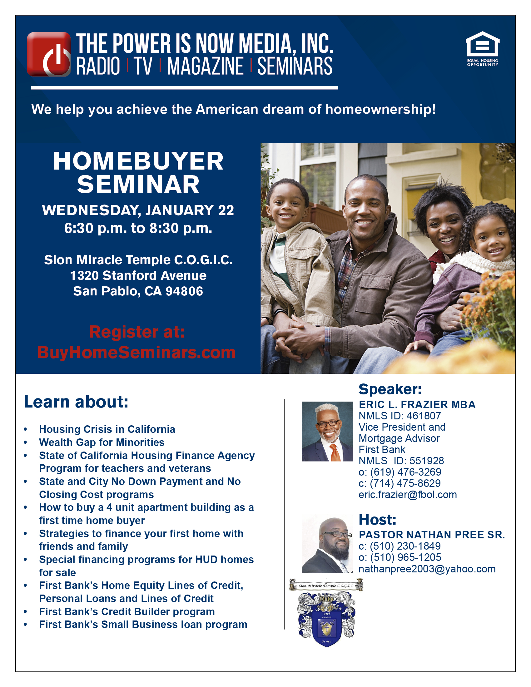 Homebuyer Seminar – Sion Miracle Temple