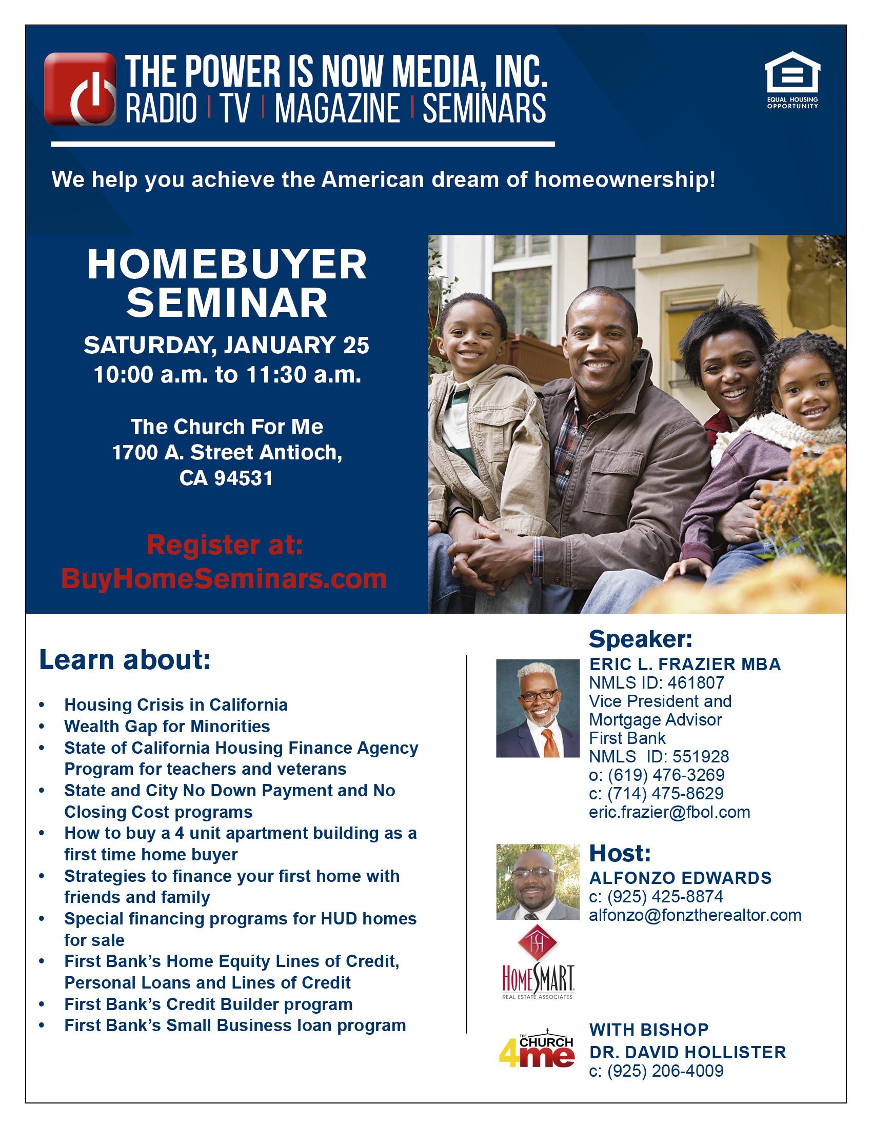Homebuyer Seminar – The Church For Me