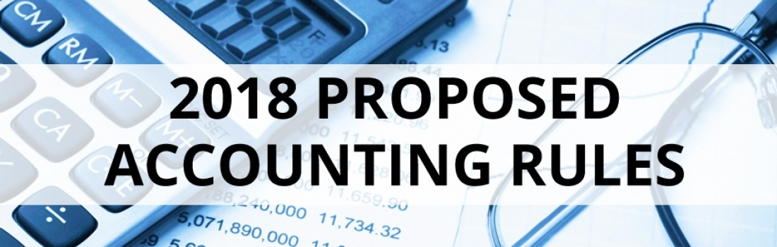 2018 Proposed Accounting Rules