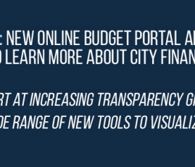 New Online Budget Portal Allows Residents to Learn More About City Finances