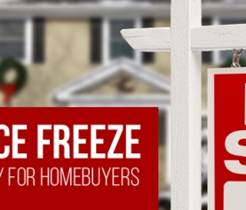 December's price freeze creates the best opportunity for homebuyers